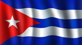 Bandeira do vetor 3D de Cuba Símbolo nacional cubano ilustração stock