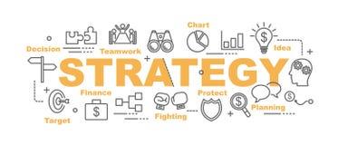 Bandeira do vetor da estratégia ilustração stock