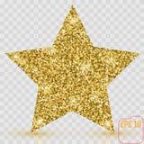 Bandeira do vetor da estrela do ouro Glitter verde Molde, cartão, vip, exc ilustração royalty free