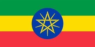 Bandeira do vetor de Etiópia 1:2 da propor??o Bandeira nacional etíope Federal Democratic Republic of Ethiopia ilustração royalty free
