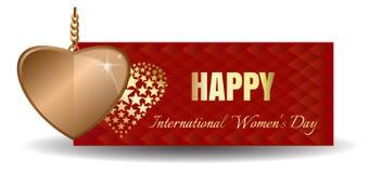 Bandeira do vetor para o dia das mulheres Imagem de Stock Royalty Free