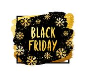 Bandeira do vetor para a venda de Black Friday Bandeira moderna da Web Foto de Stock
