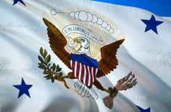 Bandeira do vice-presidente projeto de ondulação da bandeira 3D O símbolo nacional dos EUA, rendição 3D Projeto de ondulação do s foto de stock