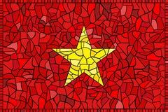 Bandeira do vidro manchado de Vietnam Fotografia de Stock Royalty Free