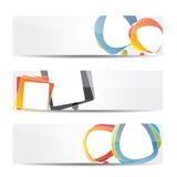 Bandeira do Web site ajustada com balões de discurso Imagem de Stock Royalty Free