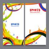 Bandeira do Web site ajustada para o conceito dos esportes ilustração do vetor
