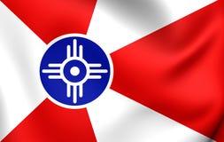 Bandeira do Wichita, EUA Fotos de Stock