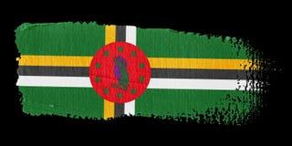 Bandeira Dominica do Brushstroke Foto de Stock