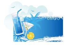 Bandeira dos cocktail do verão Imagens de Stock Royalty Free