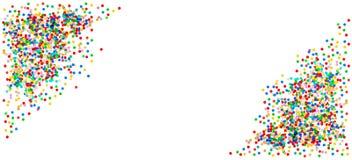 Bandeira dos confetes Aniversário, carnaval, decoração do partido de feriados Fotos de Stock Royalty Free