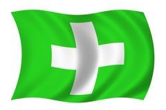 Bandeira dos cuidados médicos ilustração do vetor