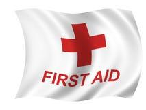 Bandeira dos cuidados médicos ilustração royalty free