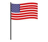 Bandeira dos E.U. do ícone ilustrada Fotografia de Stock