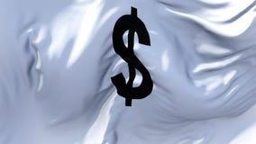 314 Bandeira dos E.U. do dólar que acena no fundo sem emenda contínuo do laço do vento