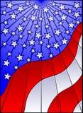 Bandeira dos E.U. do vidro manchado ilustração do vetor