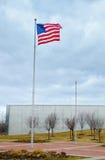 Bandeira dos E.U. em Liberty Park 9/11 de memorial Imagens de Stock