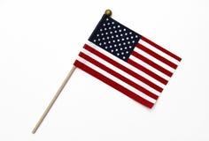 Bandeira dos E.U. em Pólo Imagem de Stock Royalty Free