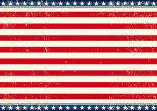 Bandeira dos E.U. horizontal Fotografia de Stock Royalty Free