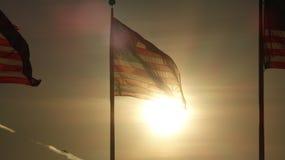 Bandeira dos E.U. na noite imagens de stock royalty free
