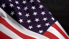 Bandeira dos E.U. que acena no vento no Dia da Independência em América ilustração do vetor