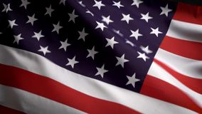 Bandeira dos E.U. que acena no vento no Dia da Independência em América ilustração royalty free