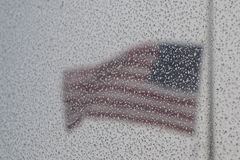Bandeira dos Estados Unidos em uma tempestade Imagens de Stock