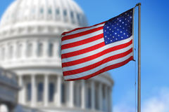 Bandeira dos EUA Foto de Stock