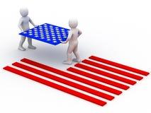 Bandeira dos EUA. ilustração stock