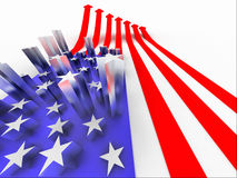 A bandeira dos EUA Imagens de Stock Royalty Free