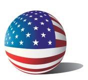 bandeira dos EUA da esfera do vetor Fotografia de Stock Royalty Free