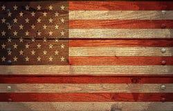 Bandeira dos EUA do Grunge Imagens de Stock