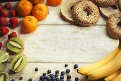 Bandeira dos frutos frescos Fotos de Stock
