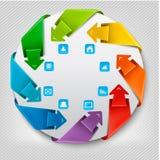 Bandeira dos gráficos da informação com ícones. Tem do projeto moderno ilustração do vetor