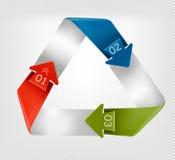 Bandeira dos gráficos da informação com números. Projeto moderno t ilustração do vetor