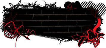 Bandeira dos grafittis Foto de Stock