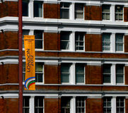 Bandeira dos Jogos Olímpicos de Londres 2012 Fotografia de Stock Royalty Free