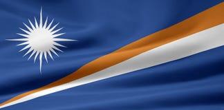 Bandeira dos Marshall Islands Fotografia de Stock