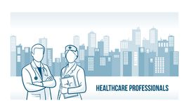 Bandeira dos profissionais dos cuidados médicos Fotos de Stock