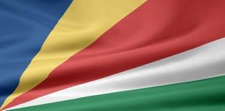Bandeira dos Seychelles Fotografia de Stock