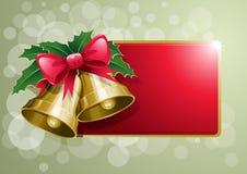 Bandeira dos sinos de Natal Foto de Stock Royalty Free
