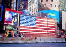 Bandeira dos Times Square de NYC Imagens de Stock
