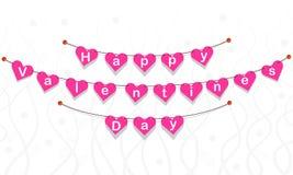 Bandeira dos Valentim Fotografia de Stock Royalty Free