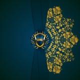 Bandeira dourada elegante do quadro Imagem de Stock