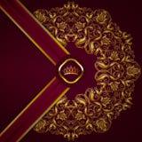 Bandeira dourada elegante do quadro Fotos de Stock Royalty Free