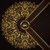 Bandeira dourada elegante do quadro Foto de Stock Royalty Free