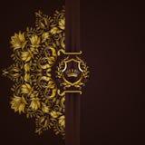 Bandeira dourada elegante do quadro Foto de Stock
