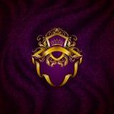 Bandeira dourada elegante do quadro Fotografia de Stock Royalty Free