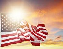 Bandeira e céu Fotos de Stock