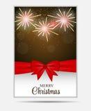 Bandeira e cartão do Web site dos flocos de neve do Natal Imagens de Stock Royalty Free