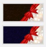 Bandeira e cartão do Web site dos flocos de neve do Natal Fotografia de Stock Royalty Free